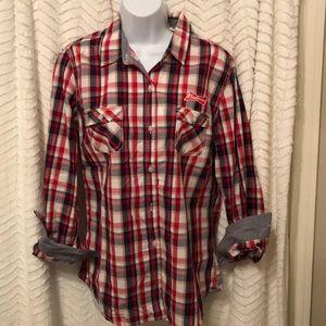 Budweiser plaid shirt
